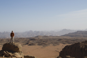 After 8 long 4x4 days, our objective was finally in sight... those sandstone peaks in the distance.
