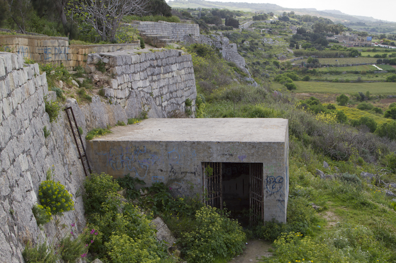 This tunnel leads to an abandoned atomic-proof bunker, built in the 1950's to be used as HQ in case of nuclear war.