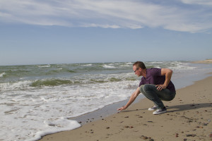 First glimpse of the Baltic Sea — that water was cold!
