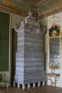 The rooms were heated by these enormous ceramic stoves...