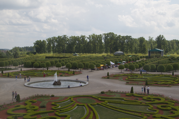 Rundale's gardens were modelled on those at Versailles...