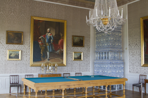 The billiard room in the Duke's state apartments...