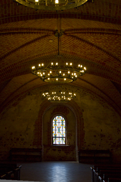 The Great Hall of Trakai castle is still used for state functions...