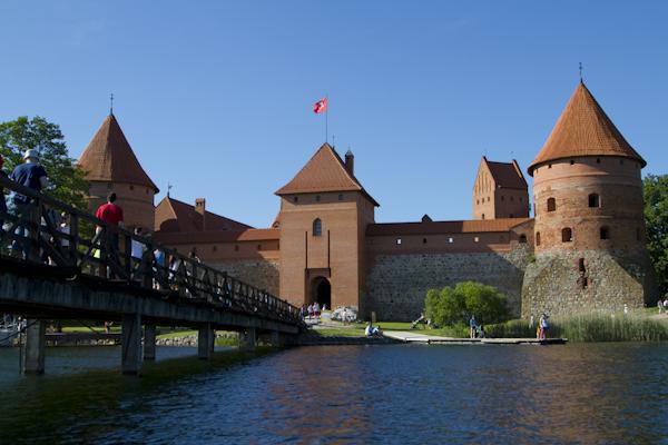 Trakai's fairy tale island castle...