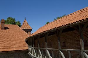The castle's inner courtyard...