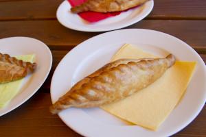 The traditional Karaite pastry, called kibinai...