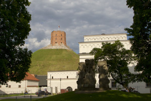 The tower on Gediminus Hill —the first fortification on this site dates back to the 13th century...