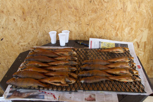 Smoked fish from a Viinistu stall...