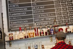 Exploring local brews at a craft beer bar...