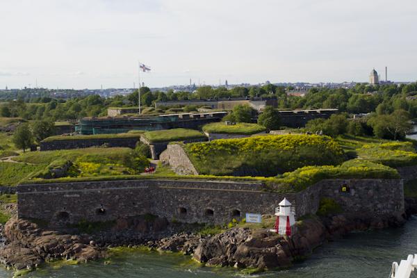 The island fortress of Suomenlinna...