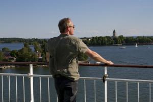 Top deck views as we leave Helsinki harbour...