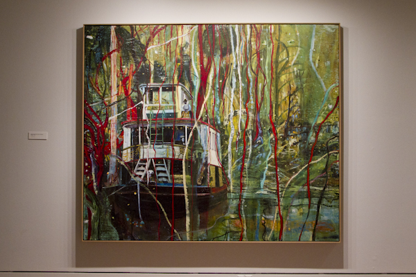 """""""Okahumkee (Some Other People's Blues)"""" by Peter Doig"""