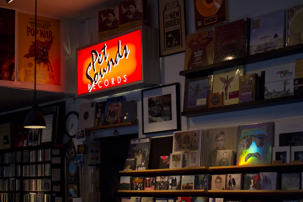 Stockholm's coolest record store was right around the corner...