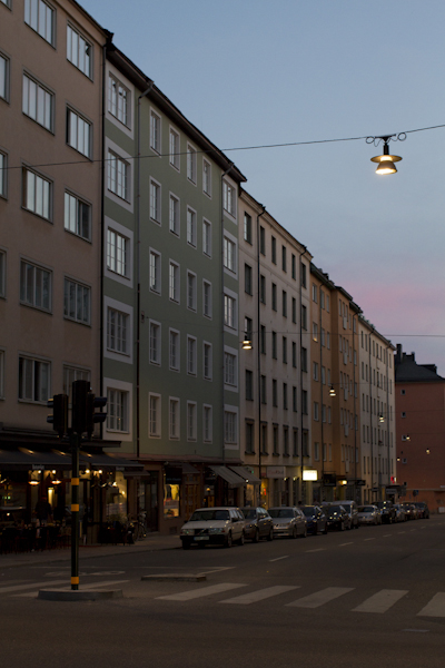 Summer Södermalm skies at 11pm outside our flat...