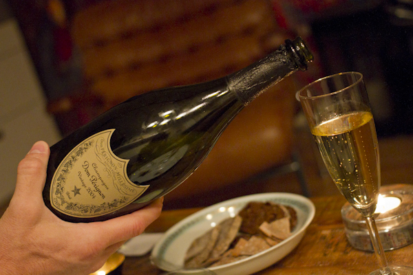...and a lovely vintage champagne for the birthday girl... Dom Perignon 2004...