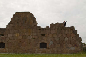 Exploring the ruins of the Russian fortress of Bomarsund...
