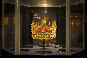 Hat fitting — Denmark's crown jewels on display at Rosenborg castle...