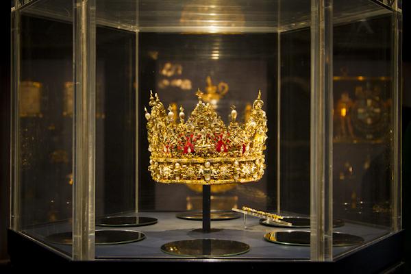 Hat fitting — Denmark's crown jewels on display at Rosenborg castle...