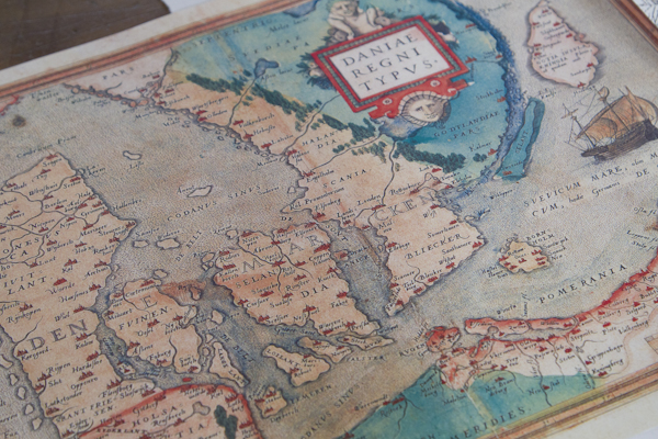 Old maps from an age when Denmark owned parts of Sweden... (rumour has it the king wants it back)