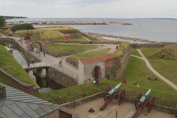 """Commanding views across the Oresund — the king made a fortune by squeezing """"dues"""" from passing ships..."""