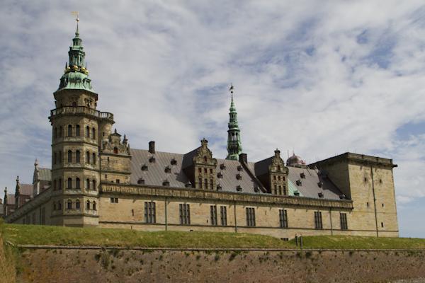 Kronborg Castle in Helsingor, immortalized by Shakespeare as the fictional setting of Hamlet...
