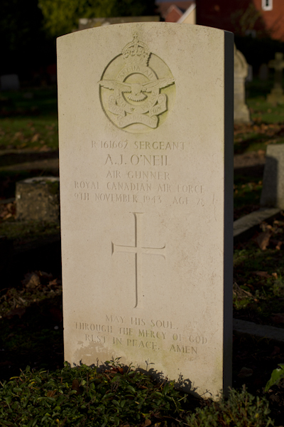 The grave of my grandfather, Air Gunner Sergeant Alton O'Neil