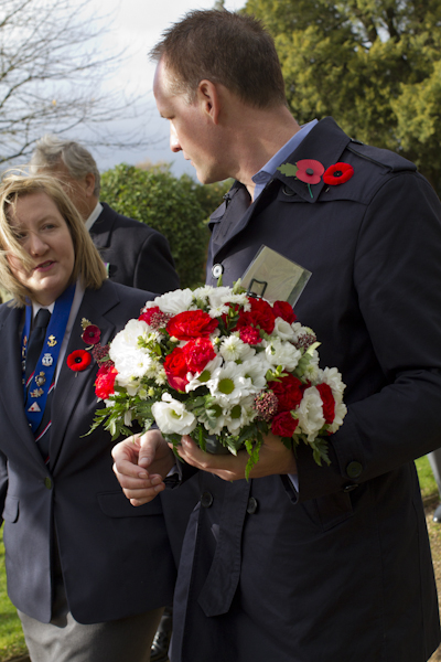 With RNA secretary Trudy Burge, who has done so much to care for the graves of these Canadian airmen