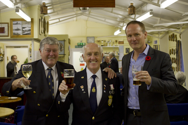 Raising a glass with the fine men and women of the Pershore Royal Naval Association
