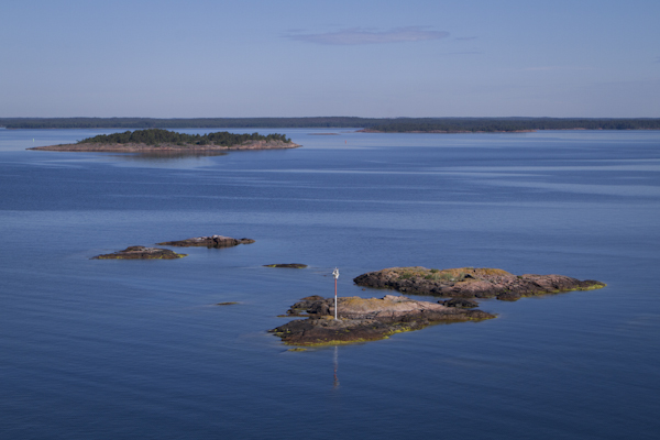 Views of the Åland islands, from the Viking Line ferry top deck...