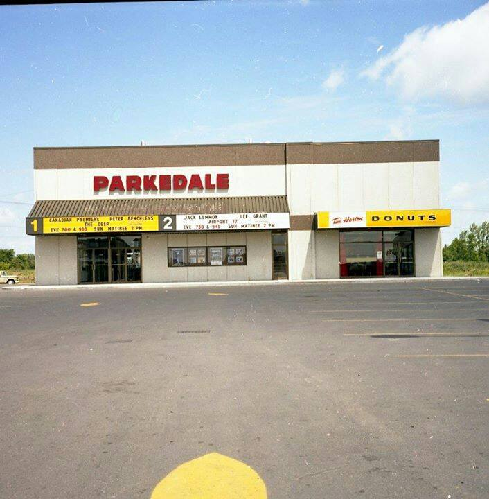 The Parkdale Cinema in Brockville, where I saw Star Wars with my dad in 1977...