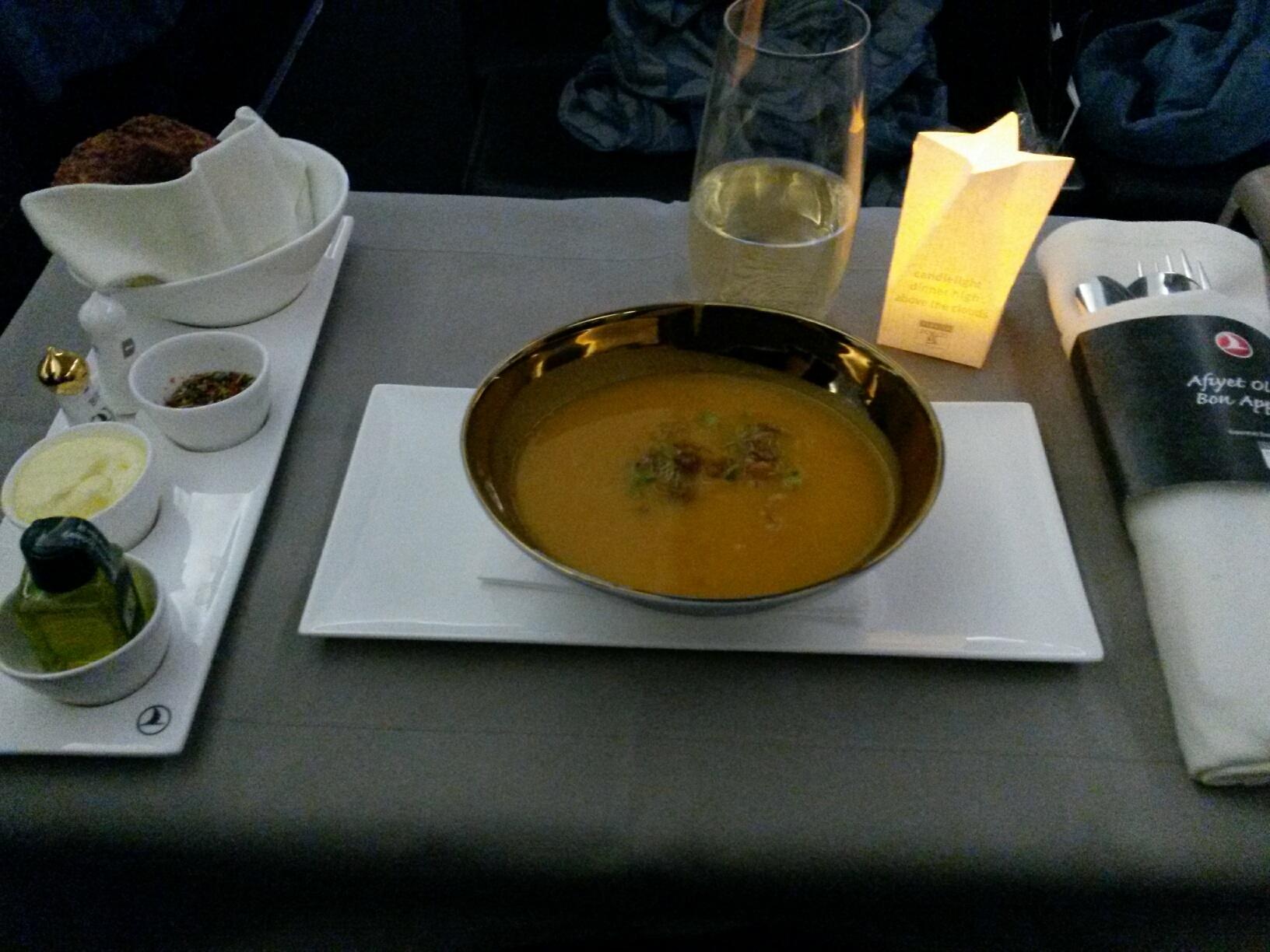 The pumpkin soup made an excellent starter...