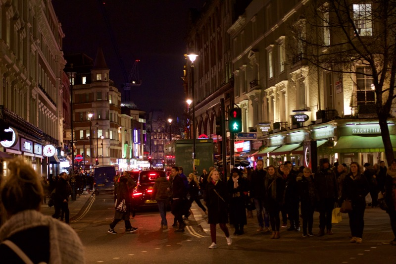 Busy night in Covent Garden...