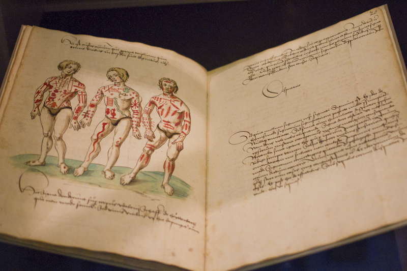 """A depiction of """"religious marks"""" in a volume from the Middle Ages..."""