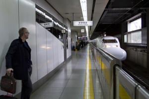 Boarding the Tokaido Shinkansen for Hiroshima...
