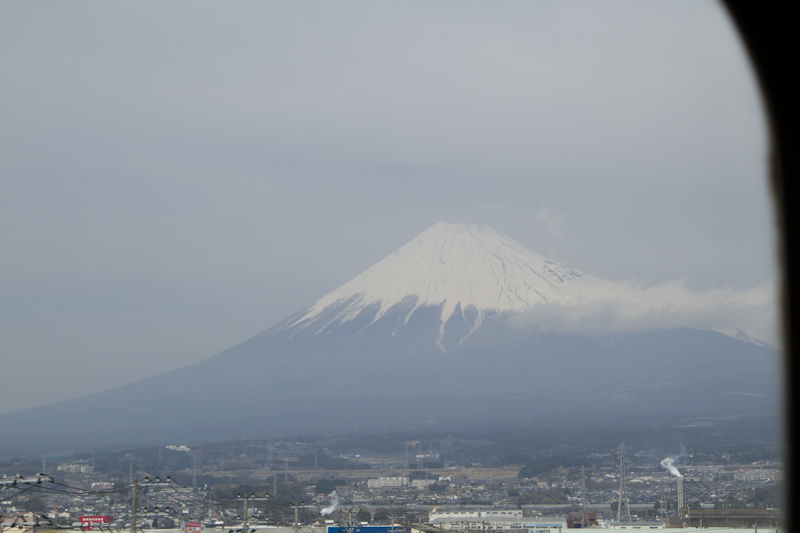 300 kph Mt. Fuji view...