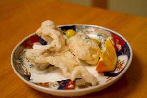 Deep fried Fugu Kara-age...