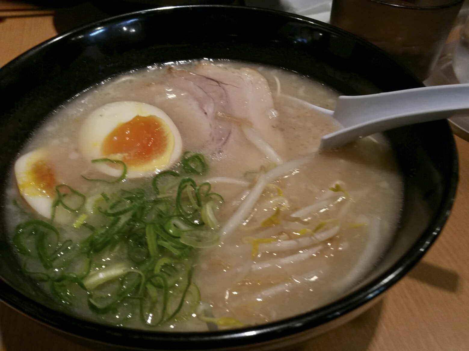 The regional specialty: rich Hakata-ramen...
