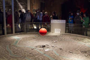 Model showing the bomb's hypocentre — and what was left of Hiroshima...