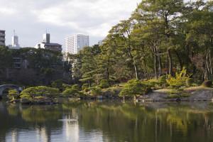 Shukkei-en Japanese garden...