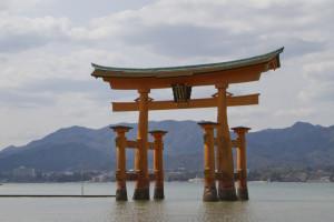 The floating torii of Itsukushima-jinja...