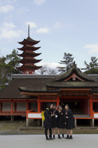The five-storied pagoda symbolizes the five elements of earth, water, fire, wind and void...
