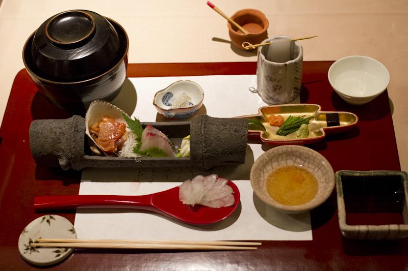The sashimi course is always a favourite...