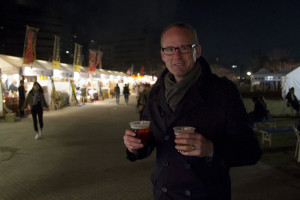 Sampling local Japanese craft beer...