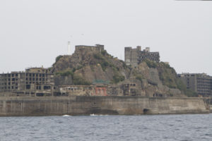 Views of the coal mining side of the island, with residential sections in the background...