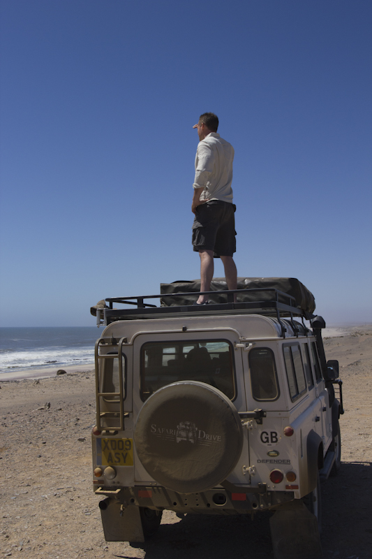 Hard at work on the Skeleton Coast...