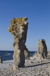 The tall limestone sea stacks of Langhammars was a location in both The Shame and A Passion of Anna...