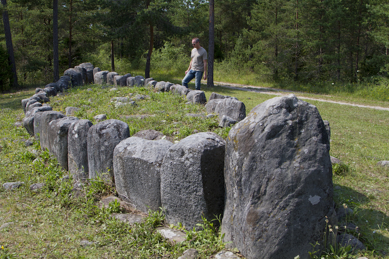 The forests of Gotland hide Viking ship graves...