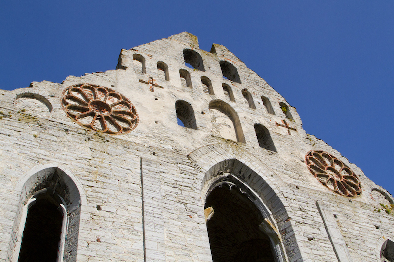One of Visby's ruined 13th century churches...