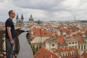 Old town views from the Astronomical Tower at the Klementina...