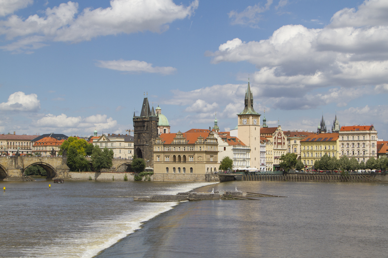 Old Town views across the Vltava River...